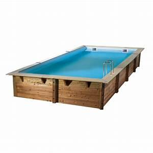 Piscine Bois Ubbink : piscine bois linea ubbink 350x650cm h 140cm liner bleu ~ Mglfilm.com Idées de Décoration