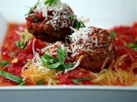 turkey meatballs  spaghetti squash  tomato sauce
