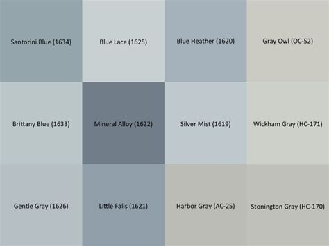 benjamin gray and blue paint sles for the interior of the house stonington gray hc