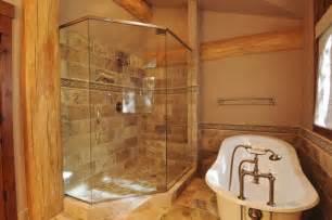 log home bathroom ideas creek cabin rustic bathroom denver by mountain log homes interiors