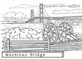 Bridge Mackinac Coloring Peninsula Michigan Clipart Symbol Upper Celebrate Favorite State Pages Suspension Etsy Parts Clipground Connects Drawings Designlooter Salvo sketch template