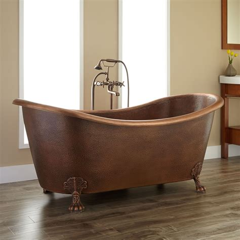 copper claw foot tub claw foot tubs bathtubs hammered copper