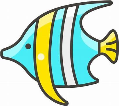 Fish Emoji Icon Clipart Cartoon Ikan Tropical