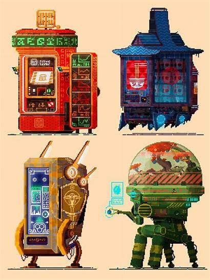 Cyberpunk Vending Pixel Machines Oc Ii Reddit