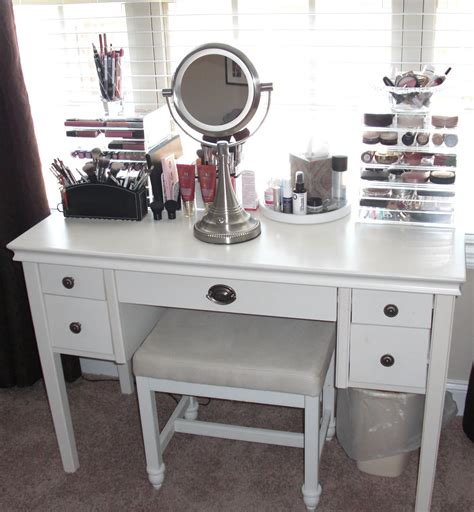 white makeup desk with rectangle white wooden makeup table with drawers and legs