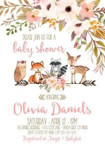 Woodland Creatures Baby Shower Invitations Photo