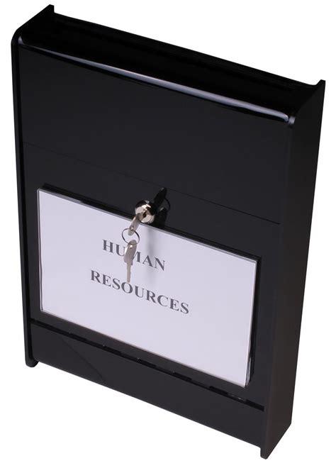 wall mount ballot box acrylic container  top slot