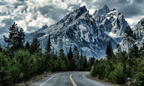 mountain road full hd wallpaper  hintergrund
