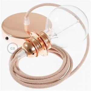 Cable Pour Suspension : lampe suspension pour abat jour c ble textile zigzag vieux rose rd71 ~ Teatrodelosmanantiales.com Idées de Décoration