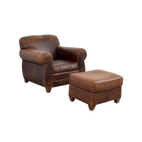 leather chair and ottoman 64 restoration hardware restoration hardware 1940s