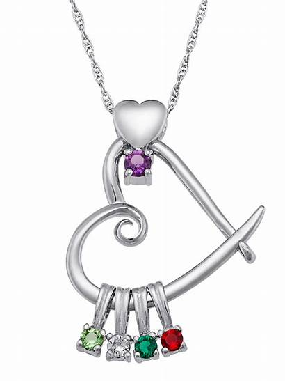 Birthstone Heart Personalized Necklace