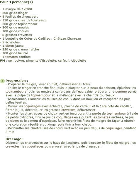 cuisiner le maigre recette le dos de maigre lardé au xingar de
