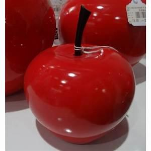 Pomme Rouge Deco : grosse pomme rouge deco resine de protection pour peinture ~ Teatrodelosmanantiales.com Idées de Décoration