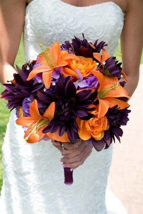 beautiful fun fall wedding ideas wedding bouquets