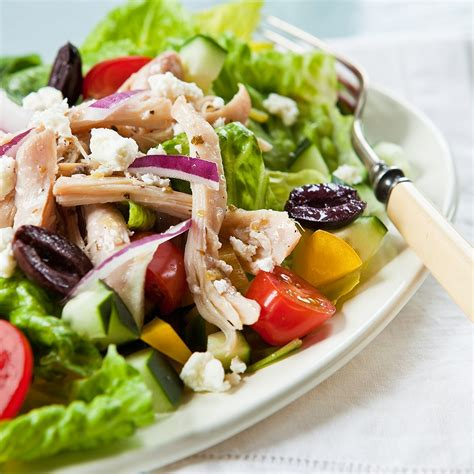 greek style chicken salad recipe eatingwell