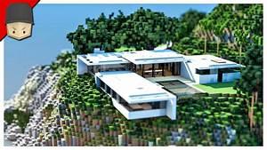 Minecraft - Modern Mountain House - YouTube