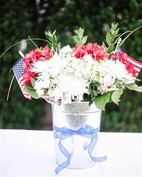 Patriotic Floral Arrangement in a Bucket   Martha Stewart