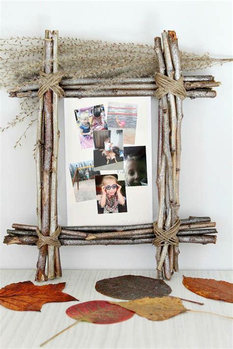 diy rustic photo frame   twigs