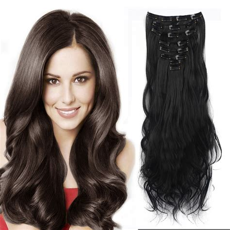 Real Thick Florata Women Girls Long Curly Full Head Clip