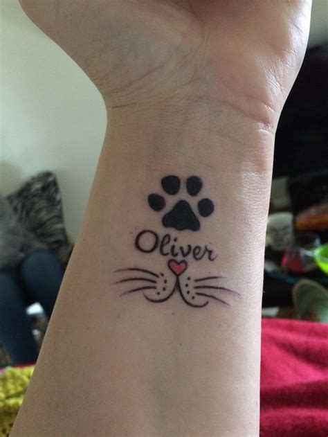 Small Paw Print Tattoo memorial cat tattoo heart   nose awesome 736 x 981 · jpeg