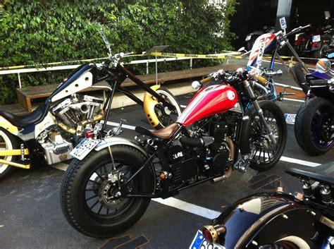 my daytona 350 bobber cafe racer espacio hd contest 2001 leonart bikes motos guapas