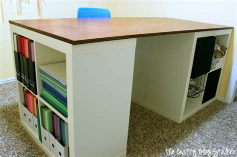 How To Make A Custom Craft Table  The Crafty Blog Stalker. Diy Wood Desk. Ge Monogram Microwave Drawer. Cheap Chest Drawers. Citidirect Help Desk. Coffee Table Book Publishers. Diaper Change Table. Purple Lap Desk. Open Front Student Desk