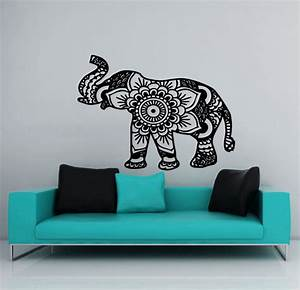 wall decal elephant vinyl sticker decals mandala indian With wall sticker decor
