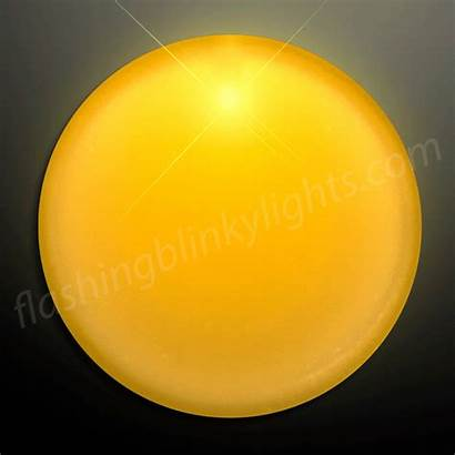Circle Yellow Frosted Badge