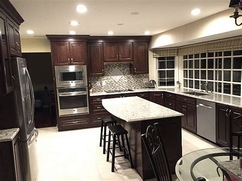 cherry wood cabinets with granite countertop giallo light granite countertop with cherry wood cabinet