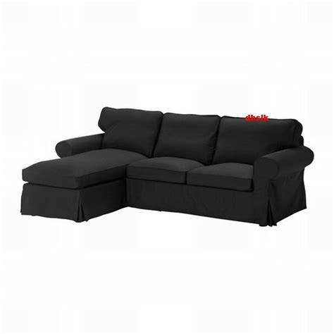Black Loveseat Cover by Ikea Ektorp 2 Seat Loveseat Sofa With Chaise Slipcover