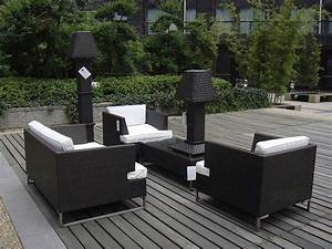 Black wicker outdoor furniture aluminum outdoor decorations for Outdoor furniture covers in black