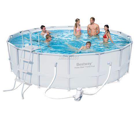 frame pool bestway bestway power steel frame swimming pool set above