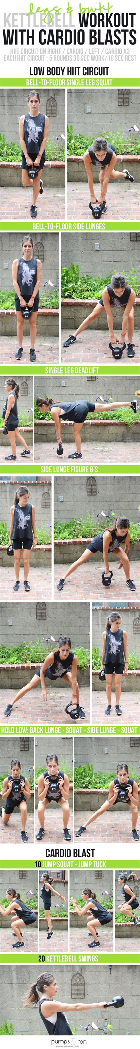 workout kettlebell butt legs cardio body lower