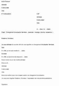 Modèle Changement D Adresse : mod le signaler un changement de situation familiale la caf ~ Gottalentnigeria.com Avis de Voitures