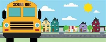 Bus Stop Animated Transportation Service Student Schools