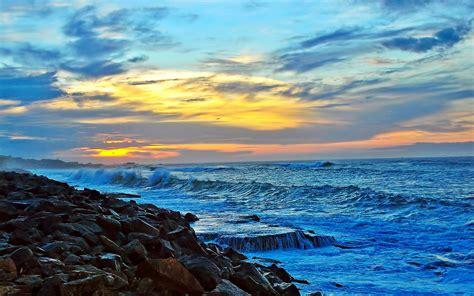Sea Coast Sunset Wallpaper  1920x1200 #31746