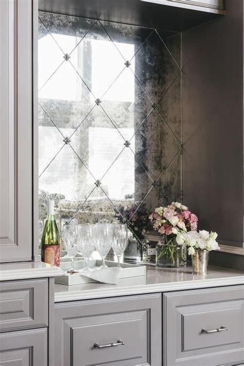 living room wet bar patterned tile backsplash kitchen