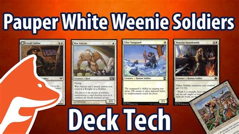 pauper white weenie soldiers deck tech a guide to magic