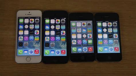 4s vs 5s iphone 5s vs 5 vs 4s vs 4 ios 7 1 which apple