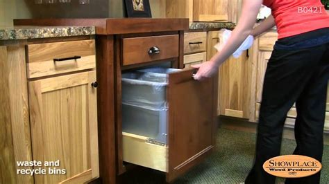 Waste and recycle bins; pull out rack   Showplace kitchen