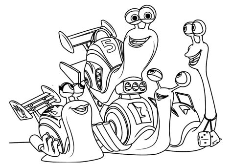 turbo dessin animé turbo escargot 1 coloriage turbo l escargot coloriages pour enfants