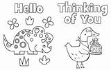 Printable Cards Highlights Coloring Thank Postcards Friends Thinking Colouring Teacher Friend Printables Parents Activities Adult sketch template
