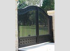 Contemporary Metal Gates Regarding Iron With Screen And