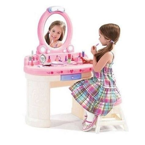 little girls makeup table vanity set for girls little make up table stool