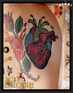 Like Real Heart Old School tattoo by Jack Gallowtree ...
