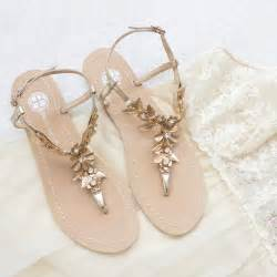 gold shoes wedding bohemian wedding sandals shoes with gold brass leaves and