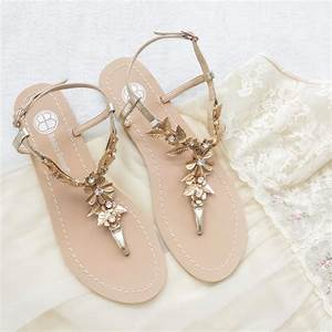 bohemian wedding sandals shoes with gold brass leaves and With gold dress sandals for wedding