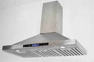 36quot wall mount stainless steel kitchen range hood vent for Kitchen exhaust fans wall mount