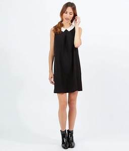 robe col claudine eclelia noir blanc etam mode With robe noire col claudine blanc