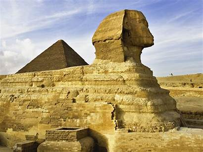 Sphinx Giza Egyptian Egypt 1920 Background Wall